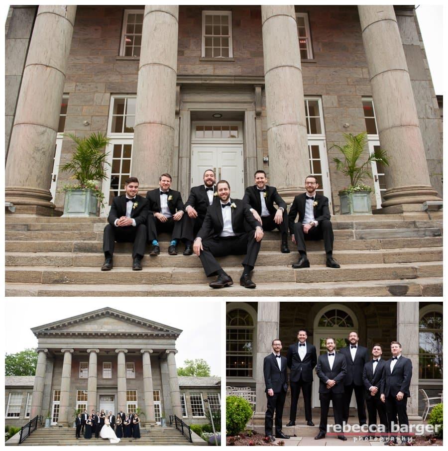 Michael and his groomsmen at Ellis Preserve.
