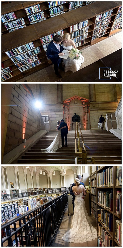 The Free Library is such a fabulous wedding venue, stunning architecture and great photo options, Brulee Catering, Philadelphia.