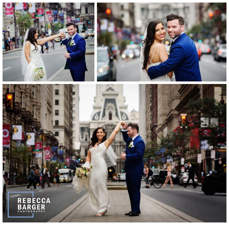 A few Broad Street photos for the just married, love that Stella York gown from Le Bella Donna.