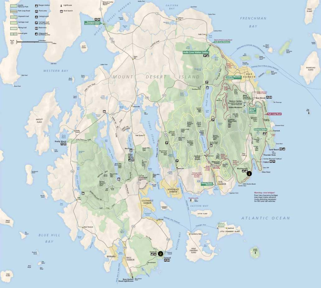 acadia map