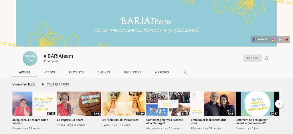 BARIA Team youtube