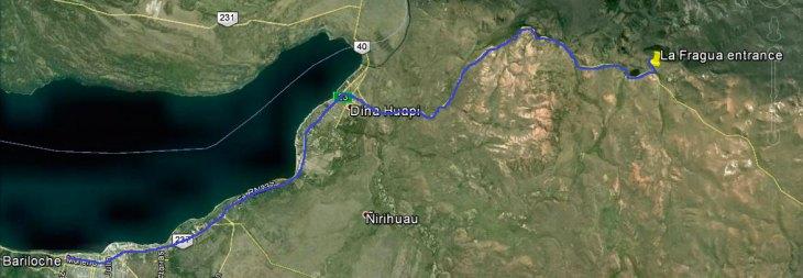 mapa la fragua estancia san ramon