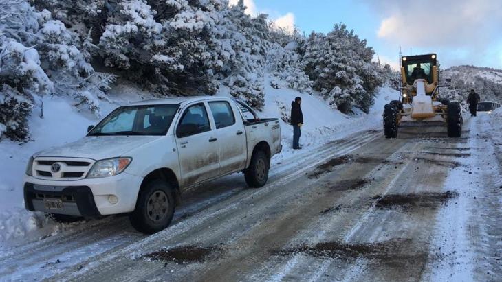 Caminho a Piedras Blancas no inverno