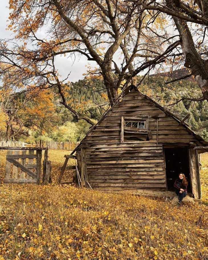 Jazmín David en otoño en Bariloche
