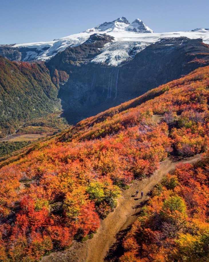 Cerro Tronador no outono