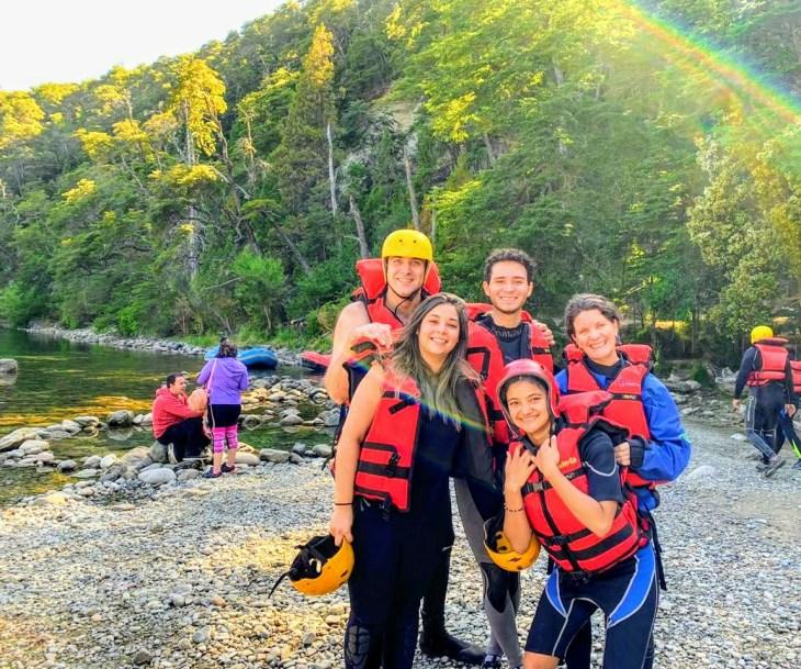 Rafting em Bariloche.