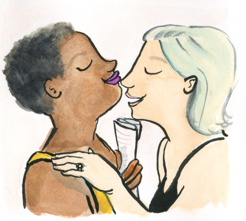 illustration of diverse couple