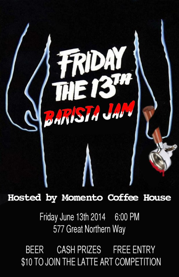 Friday the 13th Barista Jam