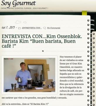 Barista Kim Ossenblok entrevistado por Jorge López de Soy Gourmet