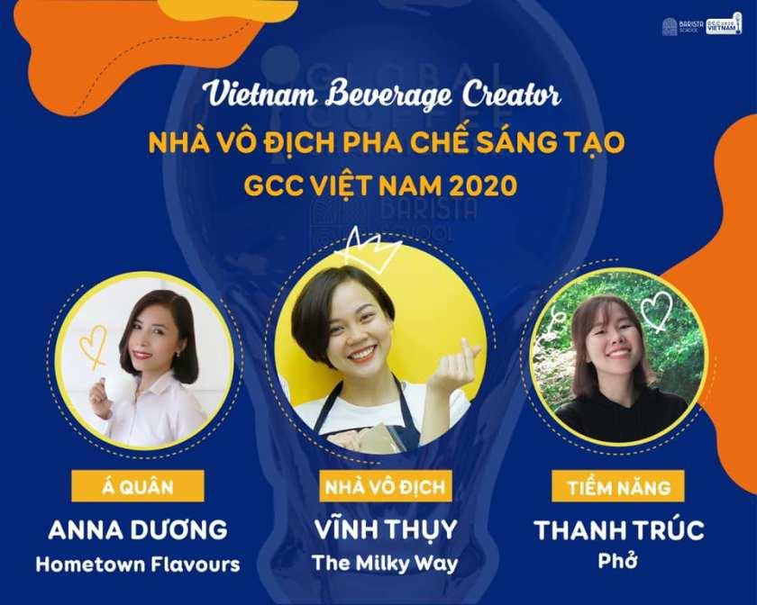 3 gương mặt vô địch Việt Nam Global Coffee Championship 2020