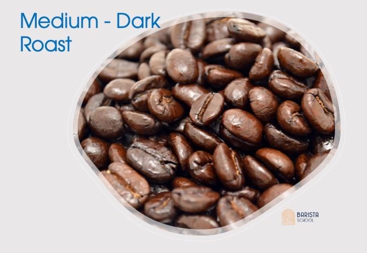 Cấp độ rang cà phê medium-dark