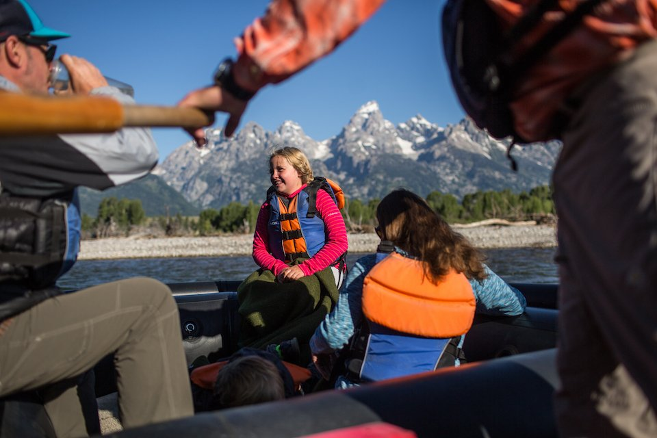 All ages enjoy floating the Snake River in Grand Teton National Park.