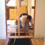 Fungus Fighters Construction removing old floor heater
