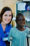 Ward Nurse Debora Mockli with her patient on B Ward