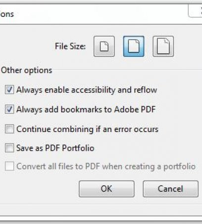 One Click Acrobat Bookmark Tip for e-Filings