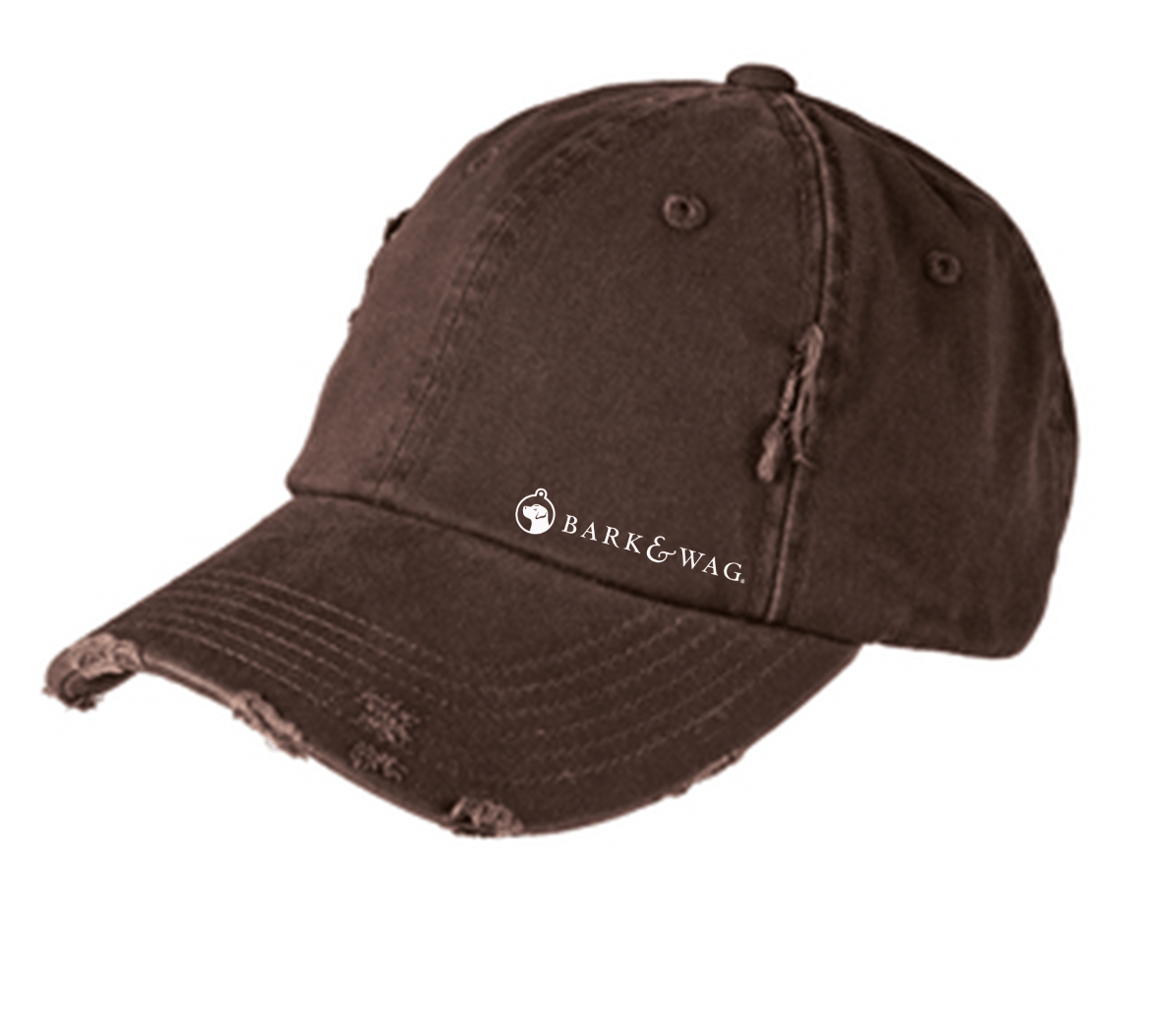Brown Distressed Hat