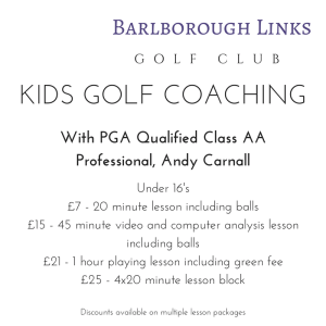 Andy Carnall Andrew Carnall Golf Coaching Kids Golf Barlborough Links Golf Club