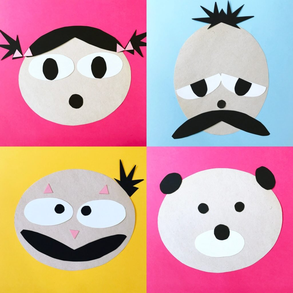 Make Paper Faces From Simple Shapes
