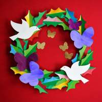 Make: A Watercolor Peace & Love Paper Wreath