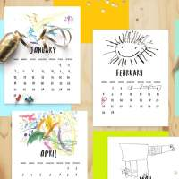 Freebie: DIY Art Calendar Printable