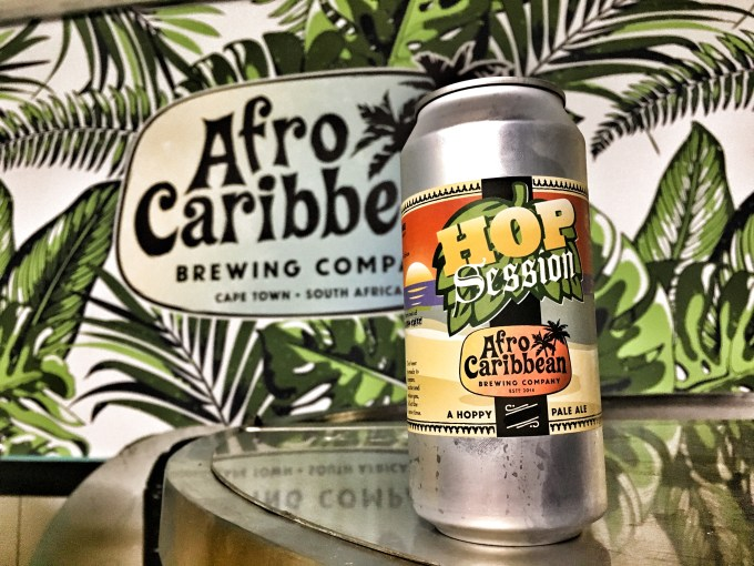 Afro Caribbean Brewing Company Hop Session Pale Ale.