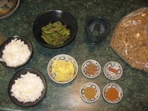 Coconut Curry Ingrediants
