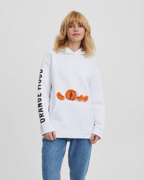 Худи женское «Оранжевое настроение» с начесом
