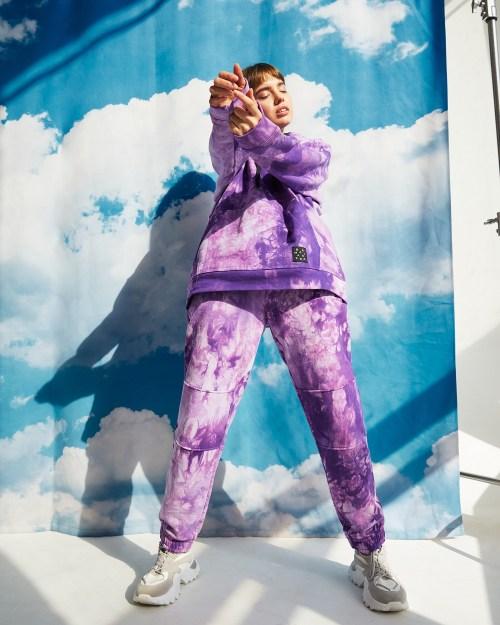 Брюки женские «Тай Дай» фиолетовые