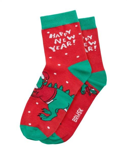 Носки «Новогодний Динозавр» 2 пары
