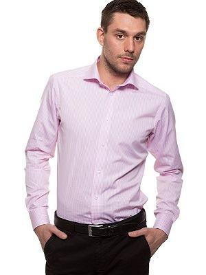 camisa social rosa masculina