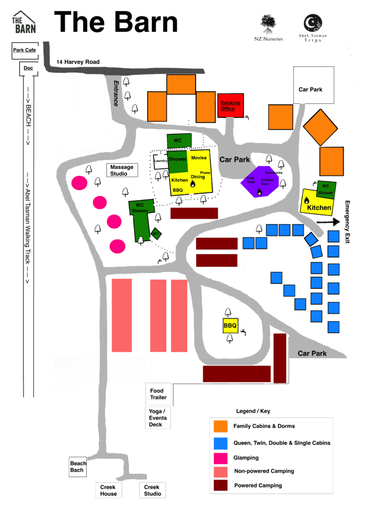 the barn site map