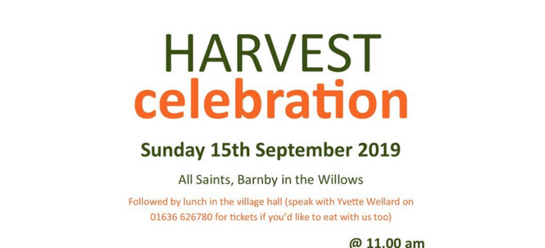 Harvest Celebration & Lunch – Sun 15th September from 11:00am