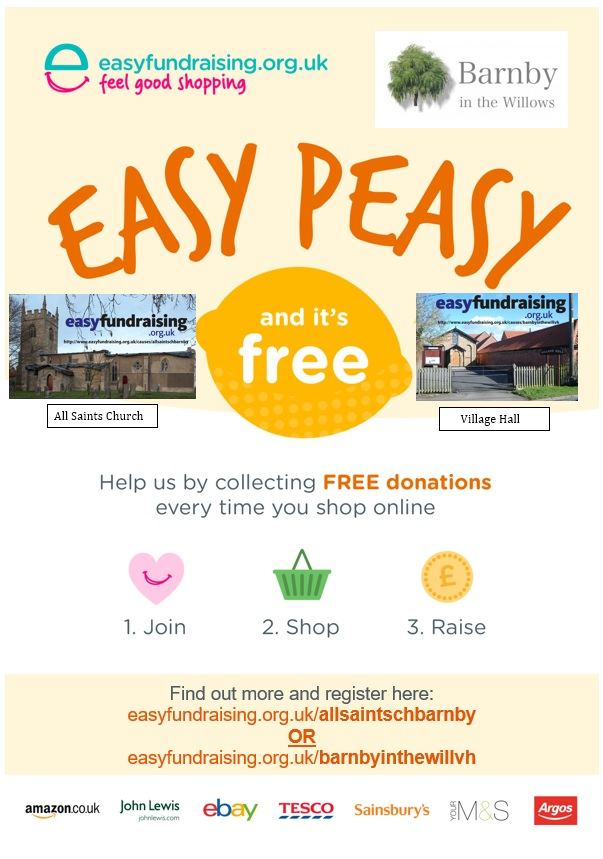 Help out Barnby when you check out online, with most retailers, from Ebay/Amazon to Asda/Sainsbury's.