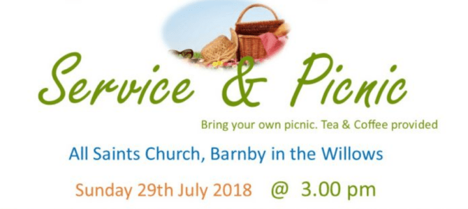 United Benefice Service & Picnic – Sun 29th July, 3pm