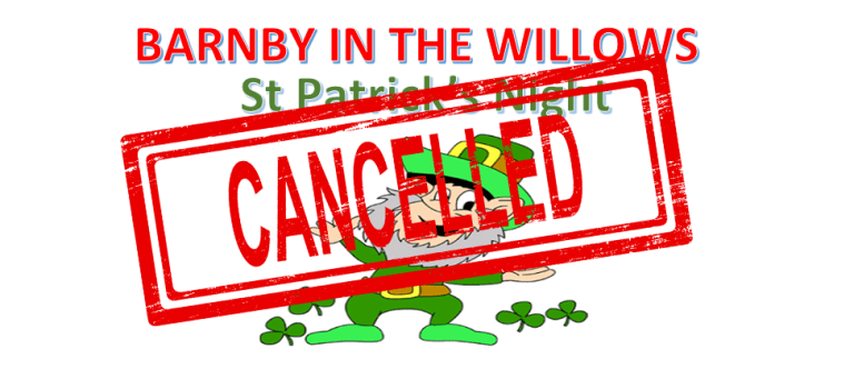 St Patrick's Night at the Village Hall – CANCELLED