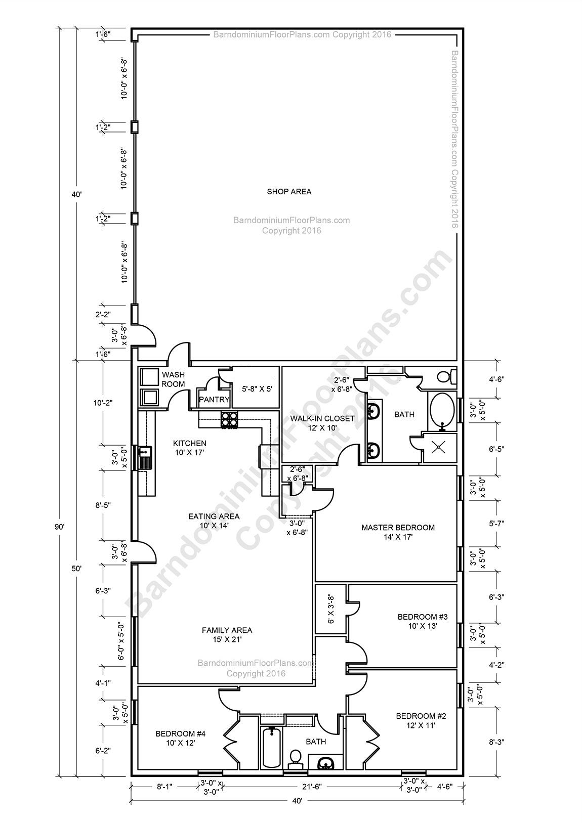 Barndominium Floor Plans Pole Barn House Plans And Metal