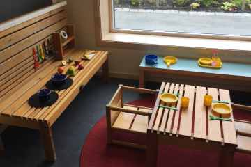 Lekekrok inne lett tilgjengelig for barna