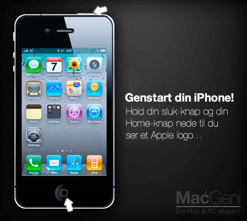 problemer med lyden i iphone - genstart din iphone macgeni hjælp guide tips
