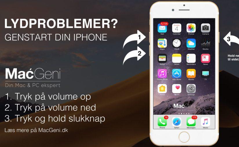 iPhone: Problemer med lyden i din telefon er forsvundet / ikke virker