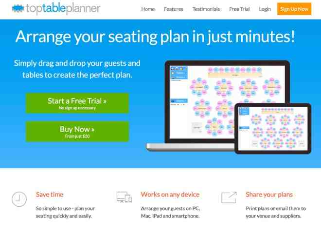 table planner bordplan