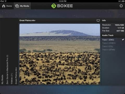 boxee ipad screenshot