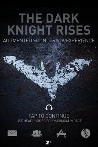 batman dark knight rises app intro