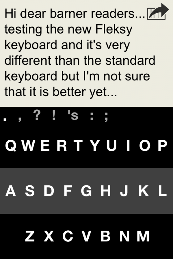 Keyboard til iphone QWERTY med fleksy