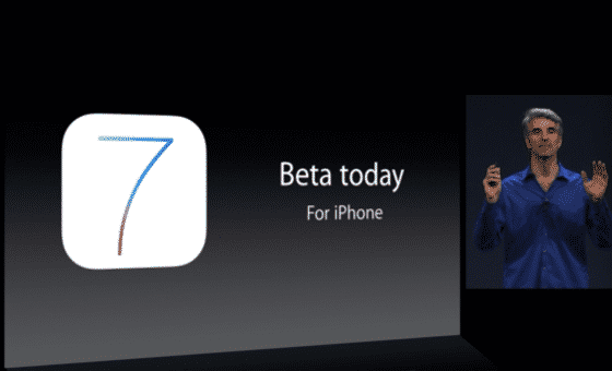 ios 7 beta release today