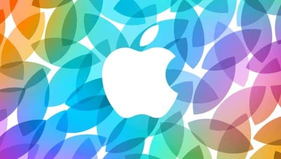 Apple colorful keynote presentation logo