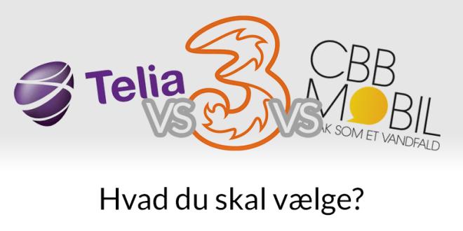 Telia vs CBB vs 3mobil - hvilket teleselskab er bedst?