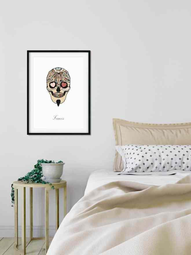 Ny online plakatbutik åbnet med passion for grafisk kunst skull