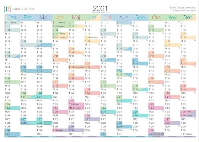 2021 download gratis kalender 2020 print selv årsoversigt 1 sidet 12 måneder mdr