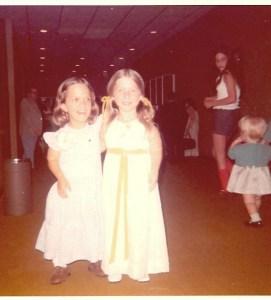 Susie and friend Ruth Ricker 1972