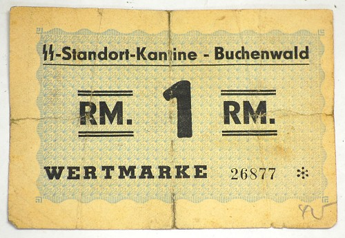 Concentration Camp Money Buchenwald